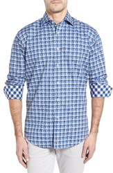 Thomas Dean Men's Classic Fit Funky Check Sport Shirt