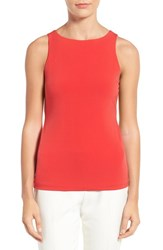 Halogenr Petite Women's Halogen Double Layer Tank Red Bloom