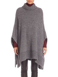 Set Turtleneck Poncho Grey