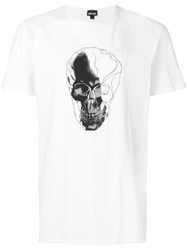 Just Cavalli Skull Print T Shirt White