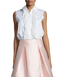 Alexis Orly Sleeveless Ruffled Blouse White