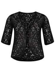 Chesca Cornelli Embroidered Lace Bolero Black