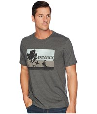 Prana Aggler Tee Charcoal Heather T Shirt Gray