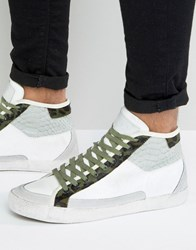 Religion Uptown Hi Top Leather Trainers White