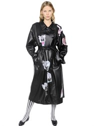 Claire Barrow Printed Nappa Leather Trench Coat