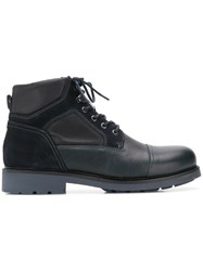 Tommy Hilfiger Lace Up Boots Blue