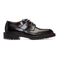 Dries Van Noten Black Buckle Strap Derbys