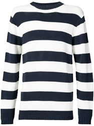 Junya Watanabe Comme Des Garcons Man Striped Fitted Sweater Blue