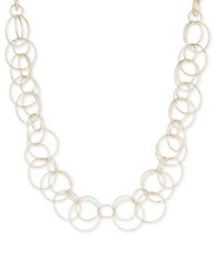 Anne Klein Round Link Necklace Gold