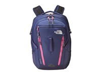 The North Face Women's Surge Patriot Blue Rose Violet Pink Backpack Bags