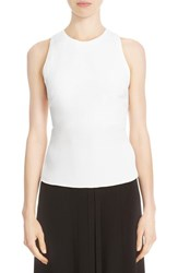 Cushnie Et Ochs Women's Silk Lace Up Back Crop Top