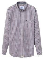 Joules Hewney Gingham Check Shirt Red Blue