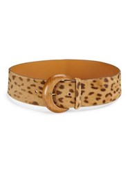 Ralph Lauren Leopard Calf Hair Belt