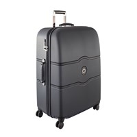 Delsey Chatelet Hard 4 Wheel Trolley Case Black