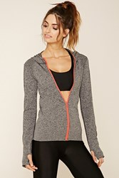 Forever 21 Marled Seamless Knit Hoodie