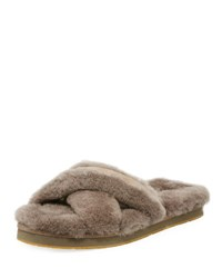 Ugg Abela Shearling And Suede Slipper Slate