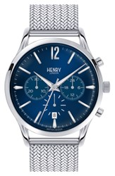 Henry London 'Knightsbridge' Chronograph Mesh Strap Watch 38Mm