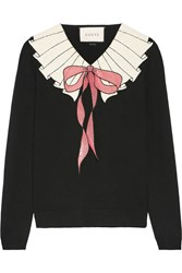 Gucci Sequin Embellished Wool Sweater Black