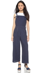 Chloe Sevigny For Opening Ceremony Pinstripe Cropped Overalls