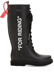 Off White 40Mm For Riding Rubber Rain Boots Black