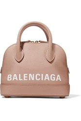 Balenciaga Ville Xxs Aj Printed Textured Leather Tote Beige