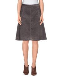 Noa Noa Knee Length Skirts Dove Grey