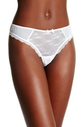 Free People Lacy Thong White