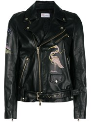 Red Valentino Flamingo Zipped Jacket Black