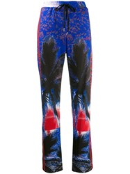 P.A.R.O.S.H. Tropical Print Track Pants Blue