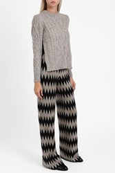 Isabel Marant Women S Gayle Cable Knit Jumper Boutique1 Grey