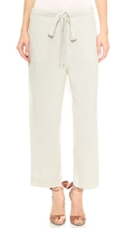 Nina Ricci Cropped Lounge Pants Ivory