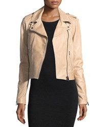 Lamarque Classic Leather Biker Jacket Brown
