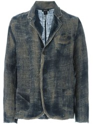 Avant Toi Distressed Blazer Blue