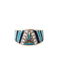 Jacquie Aiche Sunset Opal And Diamond Mosaic Ring