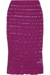 Sibling Crocheted Pencil Skirt Purple