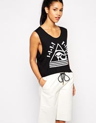 Illustrated People Pyramid Eye Sleeveless Tank Top Black