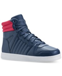 Sean John Men's Murano Supreme High Top Casual Sneakers From Finish Line Navy Red