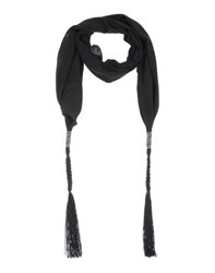 Pinko Black Accessories Oblong Scarves Women