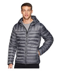 Tumi Crossover Pax Hooded Jacket Charcoal Coat Gray