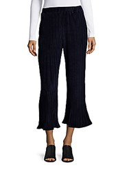 Saks Fifth Avenue Red Cropped Striped Pants Navy