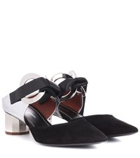 Proenza Schouler Suede And Leather Pumps Black