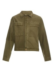 Current Elliott The Shipyard Cotton Blend Jacket Khaki