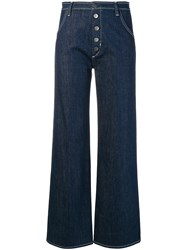 Mih Jeans Button Front High Waisted Blue