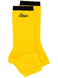 Ash Open Toe Socks Yellow