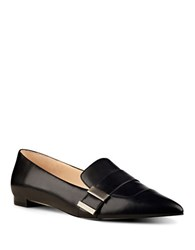 Nine West Allen Slip On Leather Loafers Black