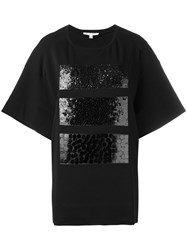 Io Ivana Omazic Embellished Sequin T Shirt Black