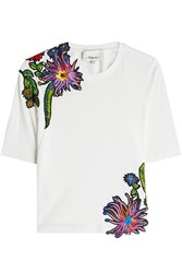 3.1 Phillip Lim Embroidered Cotton T Shirt