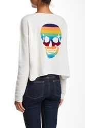 360 Sweaters Skull Love Cashmere Sweater White