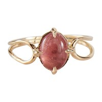 Monsieur Elia Ring Gold Tourmaline Rose