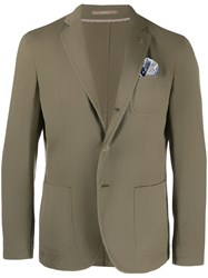Paoloni Single Breasted Blazer Green